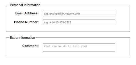 Accessible Form Placeholder Text