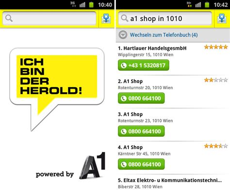 App-Tipp für Android-Smartphones: HEROLD mobile by A1 | A1Blog