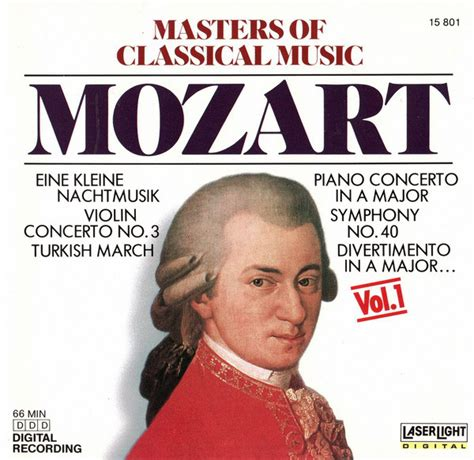 Mozart* - Masters Of Classical Music, Vol