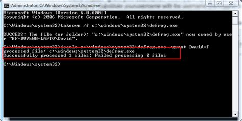 How to take ownership of a file in Windows 7 and Vista