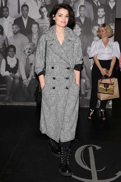 jaimie alexander dressed in a tweed coat spotted while