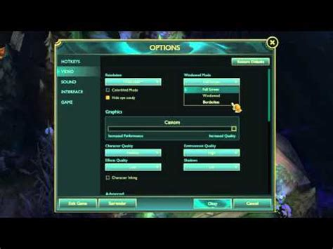 League of Legends/CSGO How to Improve FPS/Frame Rate (W