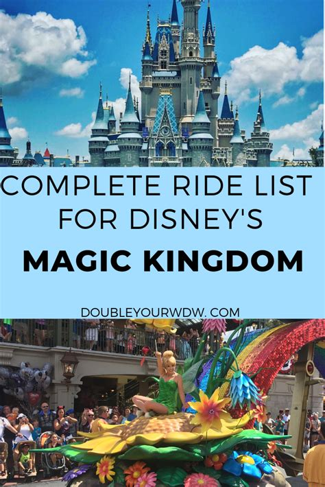 Magic Kingdom Complete Ride List (With images) | Disney