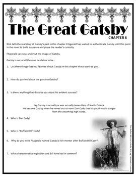 The Great Gatsby Chapter 6 Comprehension and Analysis