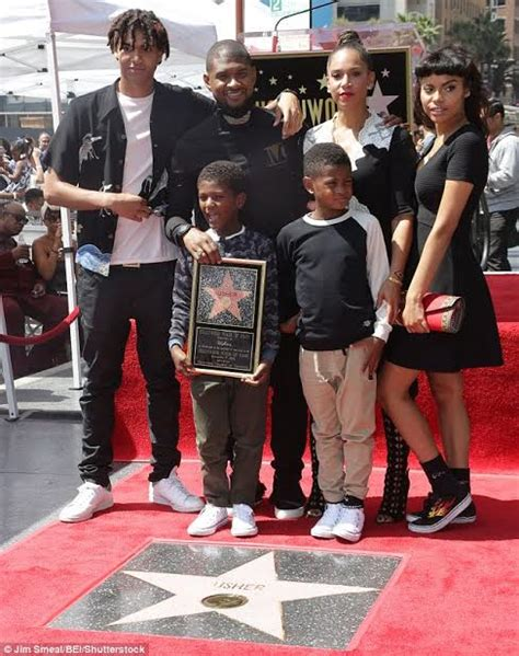Photos: Music star Usher receives a star on the Hollywood