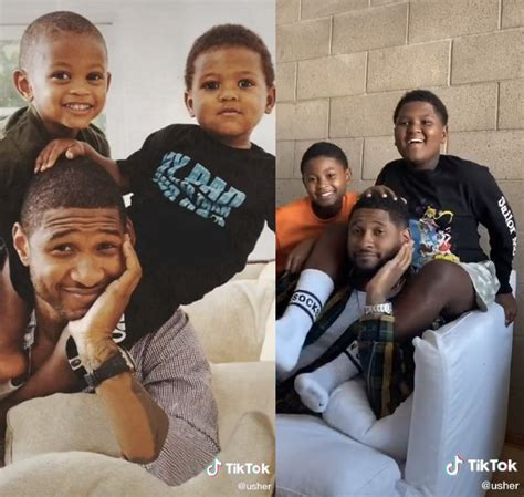 Usher recreates magazine photo shoot with his sons for