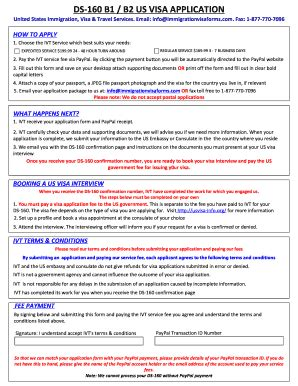 Ds 160 Blank Form Download - Fill Online, Printable
