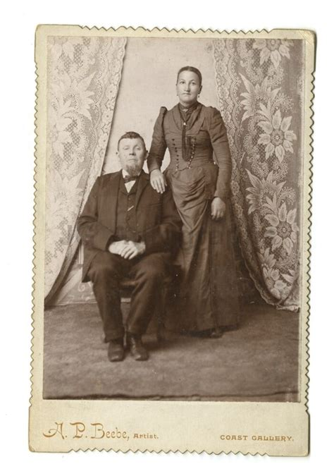 19th Century Couple - 1800s Cabinet Card Photograph - A