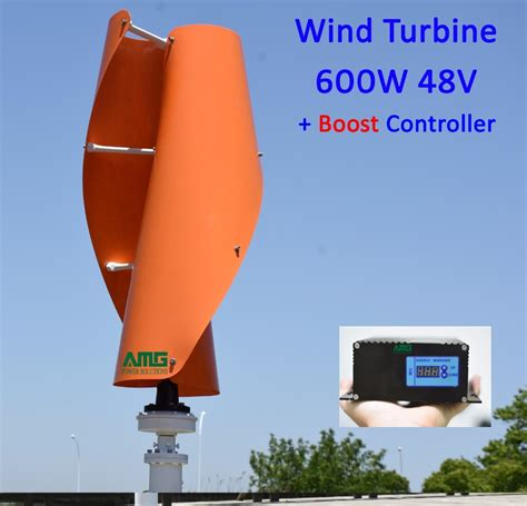 400W500W600W 48V VAWT Vertical Axis Residential Home use