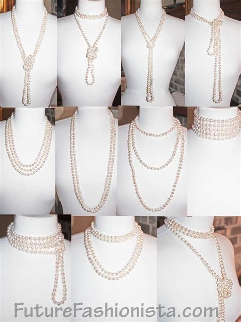 How to wear long pearl ropes