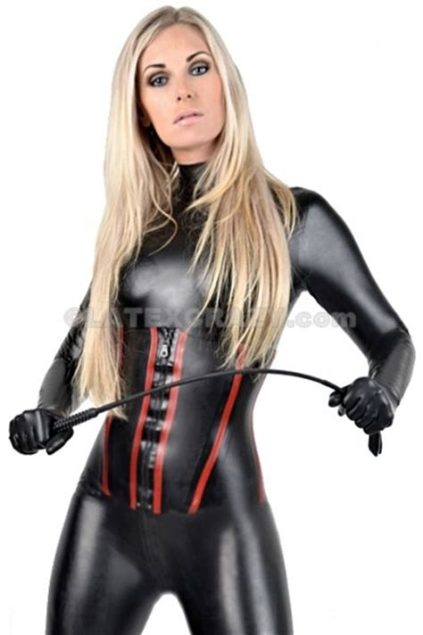 Latex Corsage matching to the catsuit made-to-measure