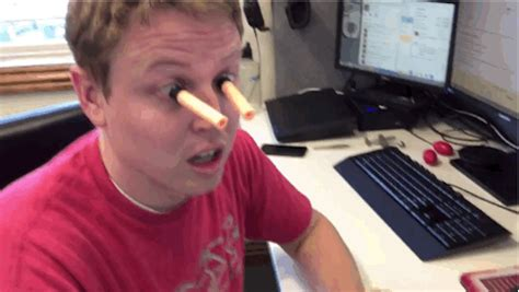 This Guy Put Nerf Gun Darts On His Eyeballs And Did Some