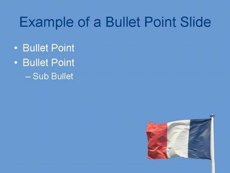 French Flag PowerPoint Template