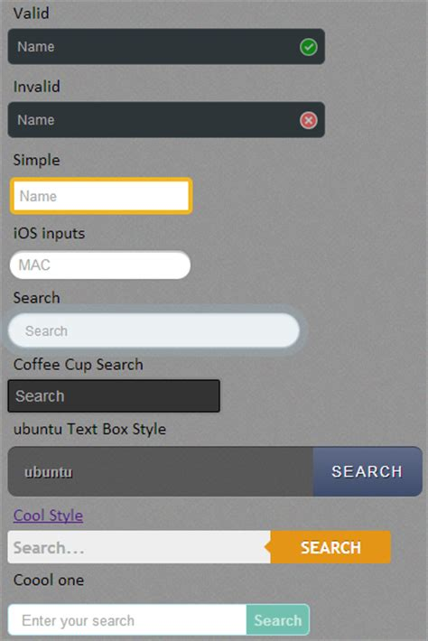 Cool textbox design in html5 - jQuery 2 DotNet