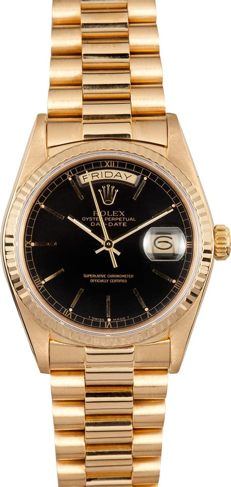 Pre-Owned Rolex President Day-Date 18038 - Bob's Watches