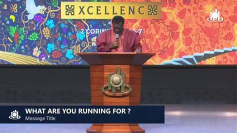 Audio: What Are You Running For? (Part 2) - Pastor Mensah