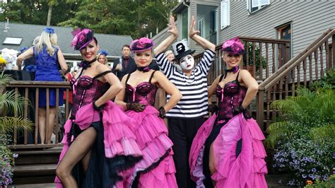 French Paris Style Moulin Rouge Themed Cabaret party in