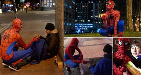 UK's Real Life Spiderman Is Helping the Homeless In Birmingham