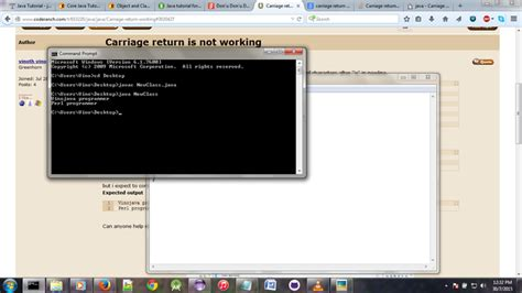 Carriage return is not working (Beginning Java forum at