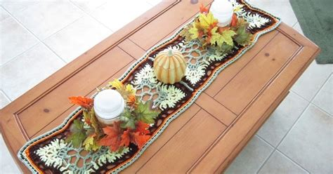 Crochet is the Way: Free Pattern: Fall Inspired Table Runner