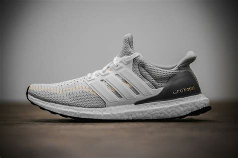 adidas Ultra Boost White and Gray Sneaker