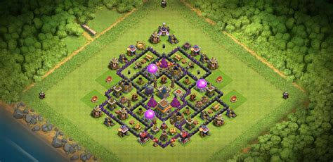 Clash of Clans Bases trophy for Town Hall 8 ClashTrack