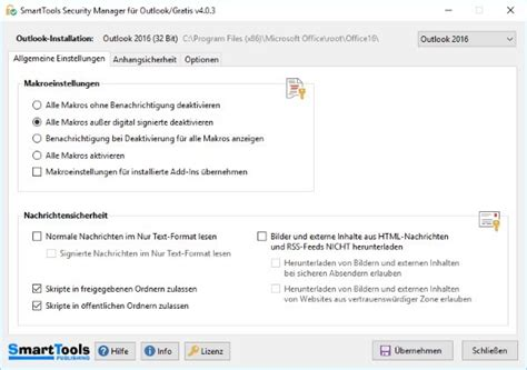 SmartTools Security Manager für Outlook - Download