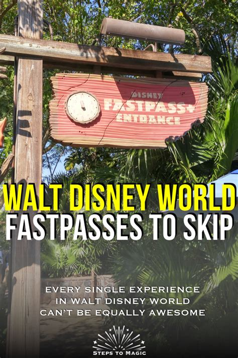 FastPass Reservations You Can Skip | Disney world parks