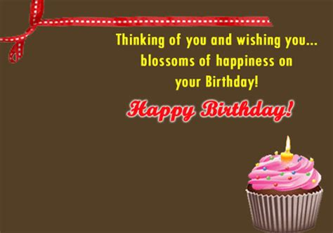 Thinking Of You On Your Birthday! Free Birthday for Her
