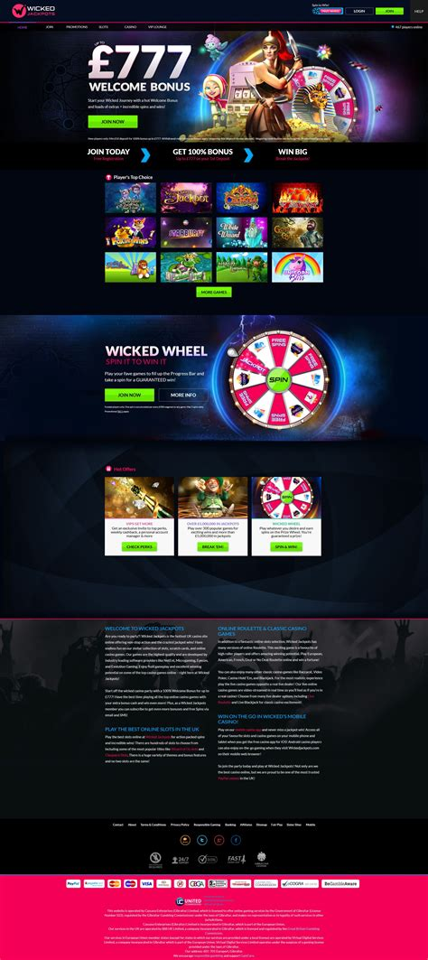 Wicked Jackpots Casino (2020)   Review   Games   Play Now
