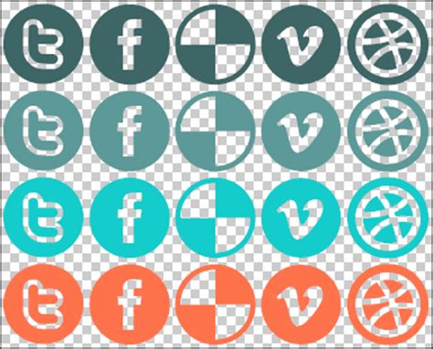 Social Media CSS Sprite Example for Your WordPress Blog